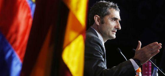 """Valverde promete """"generar emociones"""" y """"darle una vuelta"""" al estilo del Barça"""