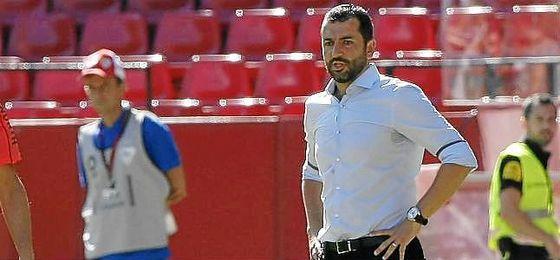 Diego Martínez, durante un partido con el Sevilla Atlético.