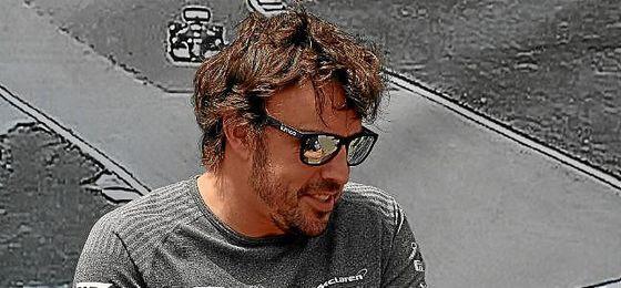 Alonso, en el Gran Premio de Canadá.