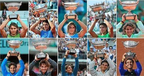 Los diez Roland Garros de Nadal.