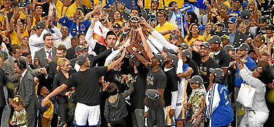 Los Warriors, campeones de la NBA.