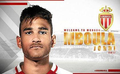 Así ha anunciado el Mónaco el fichaje de Mboula.