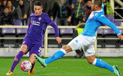 Cristian Tello ha sido un fijo en la Fiorentina este curso.