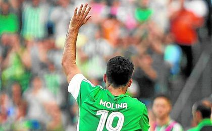 El último partido de Jorge Molina en el Benito Villamarín fue, precisamente, ante el Getafe