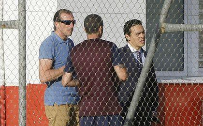 Arias y Del Nido Carrasco, en el entrenamiento mientras se ultiman fichajes