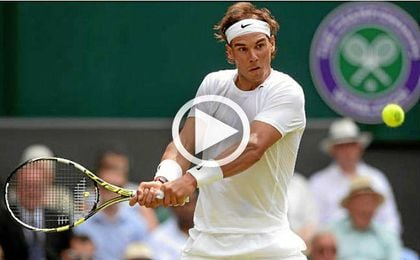 Increíble cabezazo de Nadal en Wimbledon