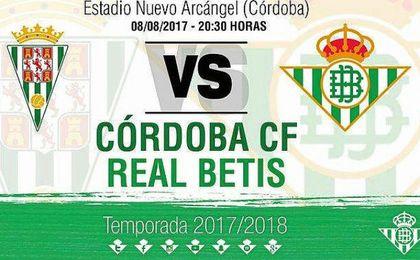 El Betis jugará un amistoso con el Córdoba el 8 de agosto
