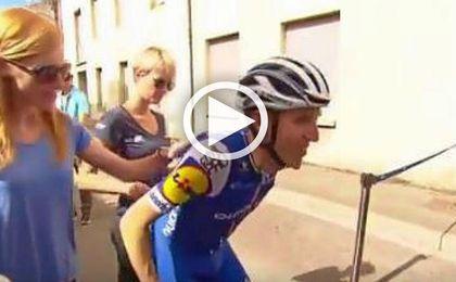 El esfuerzo titánico de los ciclistas: así acabó la etapa de ayer Dan Martin
