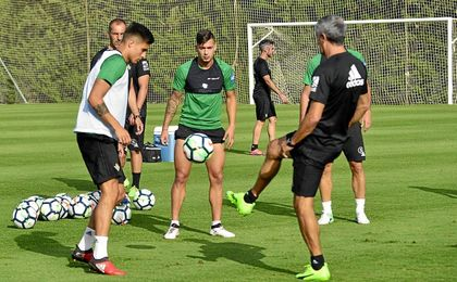 Sergio León ha completado la sesión de entrenamiento.