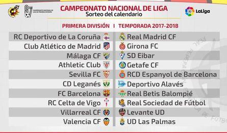 Sevilla-Espanyol y Barcelona-Betis, en la primera jornada