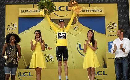 Froome, cuatro veces campeón del Tour de Francia.