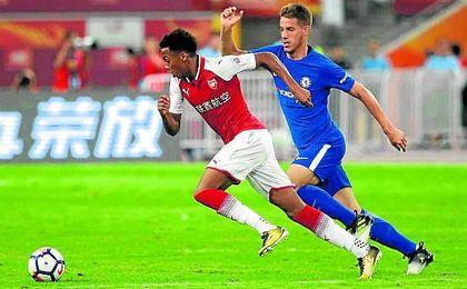 Pasalic jugó ayer 14 minutos en el amistoso del Chelsea contra el Arsenal.