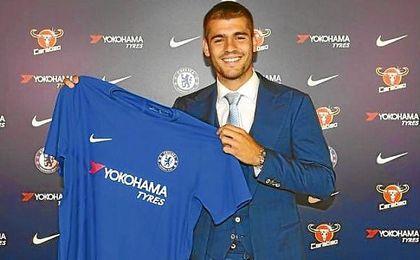 Morata llevará el ´9´ en el Chelsea.