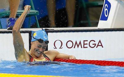 Mireia Belmonte logra la plata en el 1.500