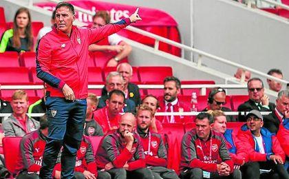 Berizzo acabó muy satisfecho con el trabajo del equipo tras su participación en la Emirates Cup.