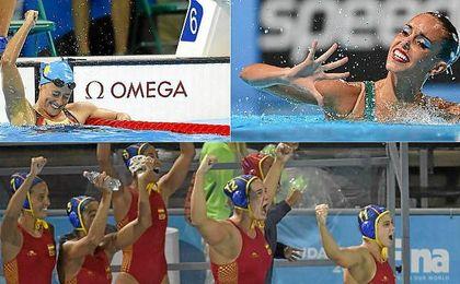 Belmonte, Carbonell y las chicas del waterpolo tiran del carro