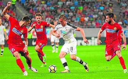 Lance del Steaua de Bucarest-Viktoria Plzen de la semana pasada.