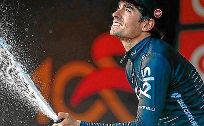 Mikel Landa asesta un nuevo golpe en la Vuelta a Burgos.