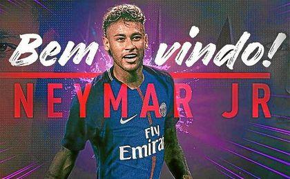 Así ha anunciado el PSG el fichaje de Neymar.