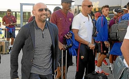 Monchi, ayer a su llegada a Sevilla.