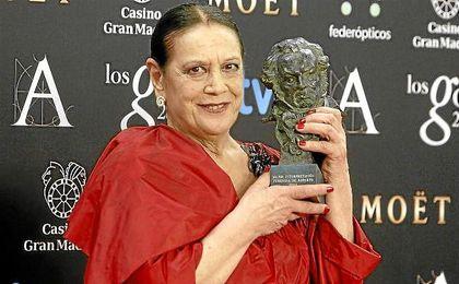 Muere la actriz Terele Pávez a los 78 años tras sufrir un derrame cerebral.