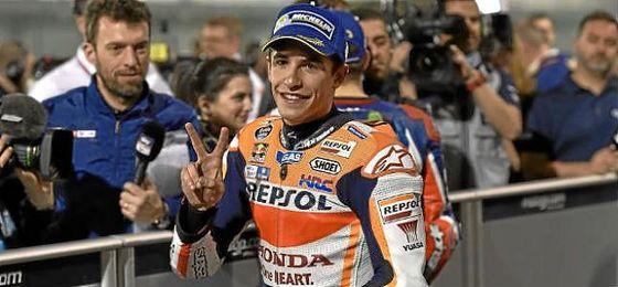 Márquez, en el más rápido en la calificación de MotoGP en Austria.