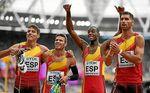 El 4x400 logra la quinta plaza y el récord de España