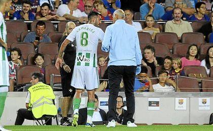 Camarasa se marchó lesionado en el minuto 77.