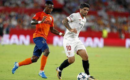 Banega se perderá los dos próximos partidos del Sevilla.
