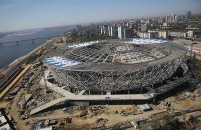 Un estadio de fútbol, el nuevo campo de batalla en Stalingrado