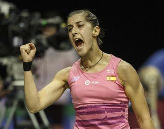 """Carolina Marín, """"contenta"""" tras el pase a cuartos de final"""