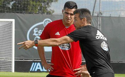 Maxi Gómez, autor de un doblete en la primera jornada, es la principal amenaza viguesa.