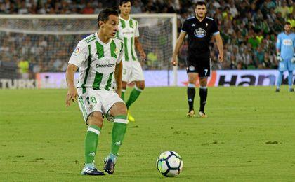 Guardado fue el más destacado del Betis con un partido completísimo.