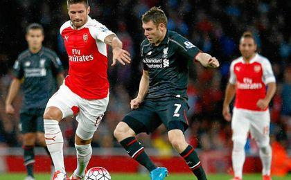 El Liverpool, rival del Sevilla en la Champions, juega hoy ante el Arsenal.