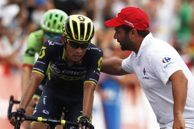 """Esteban Chaves: """"Froome está muy fuerte, a 100 metros pensaba que lo pasaba"""""""