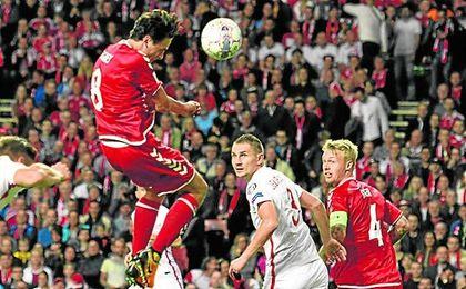 Kjaer, en el partido ante Polonia.
