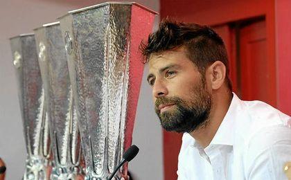 Coke se despidió del Sevilla el 1 de agosto de 2016.