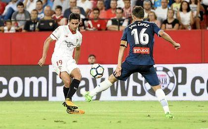 Ganso, en el partido ante el Espanyol.