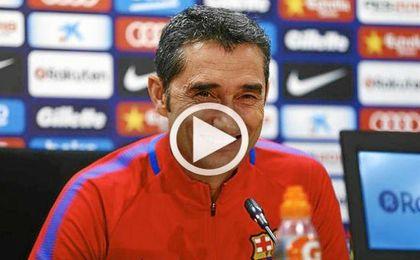 """Valverde:""""¿Si Messi y Suárez son intocables en las rotaciones? Ya lo veremos"""""""