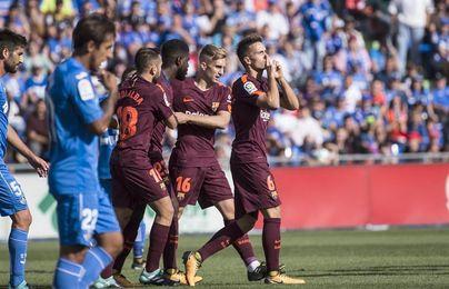 1-2. Denis Suárez desatasca al Barcelona