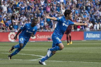 Un gol de Shibasaki da ventaja al Getafe al descanso