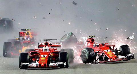 """Alonso: """"El coche estaba destrozado por el golpe"""""""