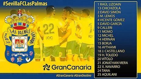Las Palmas viaja con Vitolo, pero sin su jugador más en forma