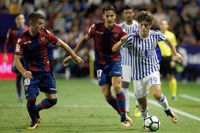 3-0. El Levante sigue en estado de gracia ante Real Sociedad que se desinfla