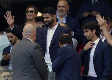 Diego Costa, presente en el Wanda Metropolitano viendo el Atlético-Sevilla