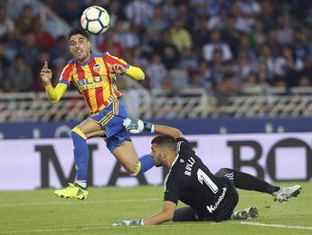 2-3. Un gran Valencia gana en Anoeta con un gol de Zaza a 5 minutos del final