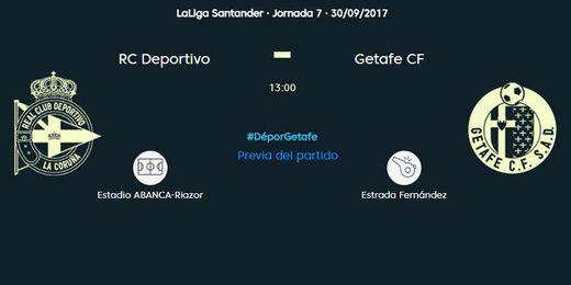 Deportivo-Getafe, en directo