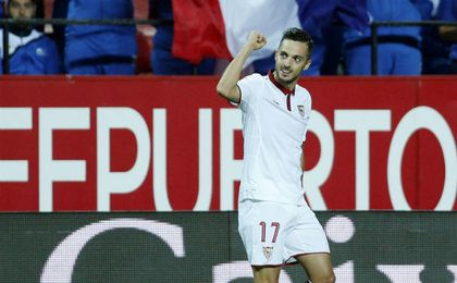 Los objetivos que se marca Sarabia para él y para el Sevilla