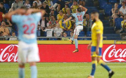 2-5. Iago Aspas y el Celta aplastan a Las Palmas