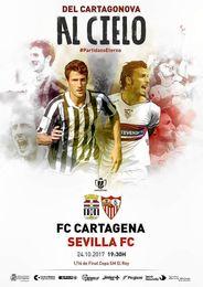 El especial cartel del Cartagena-Sevilla con Miki Roqué y Puerta